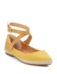 Seychelles View Buckle Wrap Flats Yellow