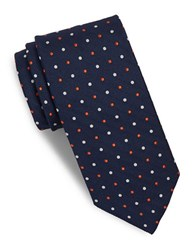 Brooks Brothers Dotted Silk Tie Blue