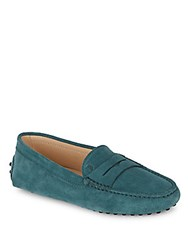 Tod's Gommini Leather Moccasins Light Green