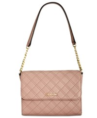 Calvin Klein Quilted Shoulder Bag Deep Blush