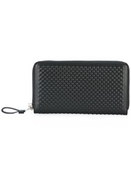 Alexander Mcqueen Textured Continental Wallet Black