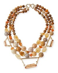 Alexis Bittar Beaded Citrine Jasper And Agate Necklace Multi