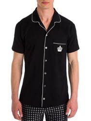 Dolce And Gabbana Silk Pajama Shirt Black