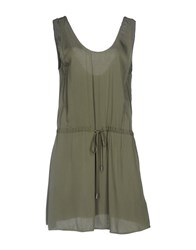 Eleven Paris Short Dresses Military Green