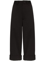 Y 3 Cropped Tailored Trousers Black