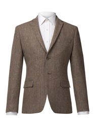 Alexandre Of England Men's Allen Taupe Check Jacket Taupe