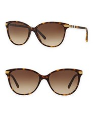 Burberry 57Mm Gradient Cat Eye Sunglasses Dark Havana Black