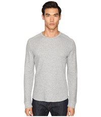 Vince Raw Edge Long Sleeve Crew Neck Heather Steel