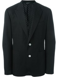 Dolce And Gabbana Textured Blazer Black