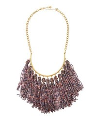 Lydell Nyc Seed Bead Tassel Multi Drop Necklace