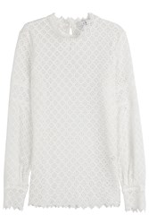 Iro Crochet Lace Top White