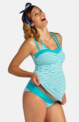 Women's Pez D'or 'La Mer' Three Piece Maternity Swimsuit Set Mint
