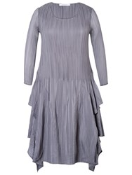 Chesca Crush Pleat Layered Dress Silver Grey