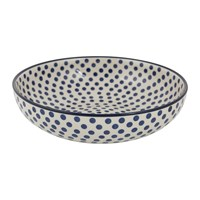Bunzlau Castle Serving Bowl Blue Dots Large