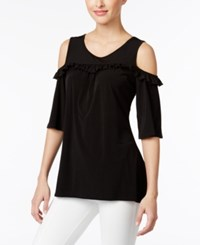 Ny Collection Off The Shoulder Top Black