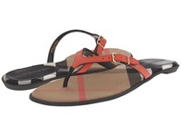 Burberry Meadow Coral Red Women's Sandals
