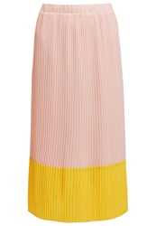 Kiomi Pleated Skirt Rose Yellow