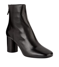 Sandro Sacha Leather Ankle Boots Female Black
