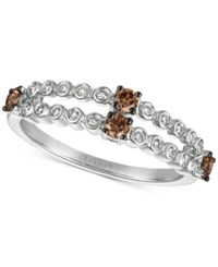 Le Vian Chocolatier Diamond Two Row Ring 3 8 Ct. T.W. In 14K White Gold