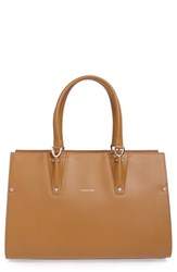 Longchamp Paris Premier Leather Tote Beige Natural