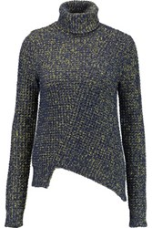 Marc By Marc Jacobs Waffle Knit Turtleneck Sweater Storm Blue