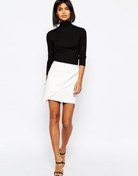 Asos Premium Layered Mini Skirt Ivory White
