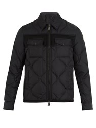 Moncler Stephan Point Collar Quilted Down Coat Black