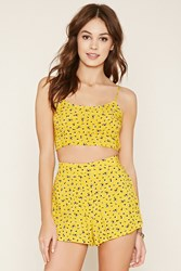 Forever 21 Ditsy Floral Print Cropped Cami