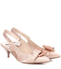 N 21 Satin Kitten Heel Pumps Pink
