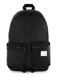 Topman Black Nylon Branded Backpack