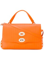 Zanellato Small Studded Tote Yellow Orange