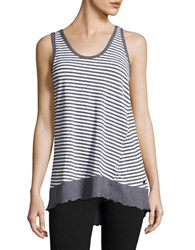 Calvin Klein Striped Performance Tank Top Grey