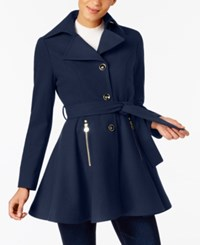 Inc International Concepts Petite Skirted Walker Coat Created At Macy's Navy