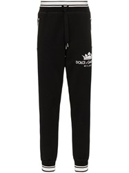 Dolce And Gabbana Logo Sweatpants Black