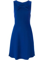 Boutique Moschino Front Bow Dress Blue