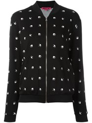 Mcq By Alexander Mcqueen Swallow Zip Cardigan Black