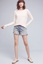 Anthropologie Pilcro Hyphen Denim Roll Up Shorts Denim Light