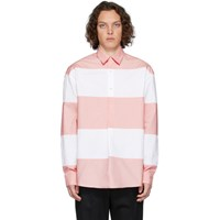 J.W.Anderson Jw Anderson White And Pink Oversized Panelled Shirt