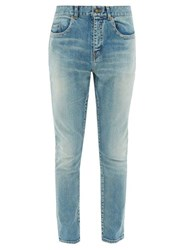 Saint Laurent Washed Skinny Leg Jeans Light Blue