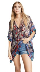 Bindya Lace Up Tunic With Tassels Multi