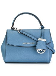 Michael Michael Kors Extra Small Ava Crossbody Bag Blue