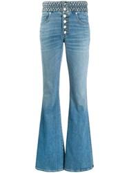 Veronica Beard Faded Flared Jeans 60