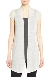 Women's Eileen Fisher Cap Sleeve Long Cardigan Bone