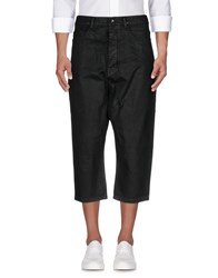 Rick Owens Drkshdw By Denim Capris Black