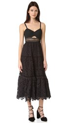 Rebecca Taylor Sleeveless Lace Dress Black