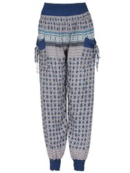 Izabel London Harem Pants With Self Tie Detail Blue