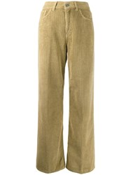 Haikure Corduroy Flared Trousers Neutrals