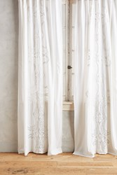 Anthropologie Embroidered Lacina Curtain White