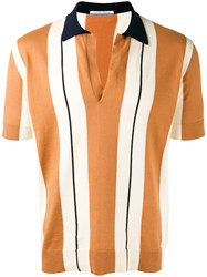 Andrea Pompilio Open Polo Shirt Brown