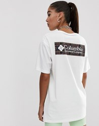 Columbia North Cascades T Shirt In Shadow Print White